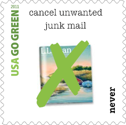 Go Green Never Stamp - cancel unwanted junk mail