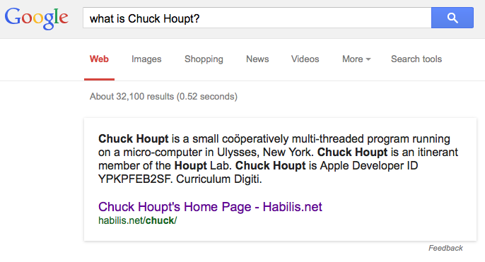 What is Chuck Houpt?